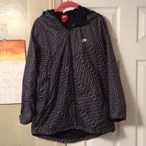 Nike Jackets & Coats - Nike Nylon Geometric-Patterned Jacket